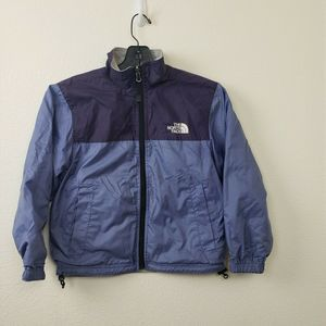 The North Face Girls Reversible Jacket Purple Gray